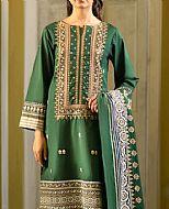 Green Lawn Suit- Pakistani Lawn Dress