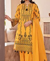 Mustard Jacquard Suit- Pakistani Chiffon Dress