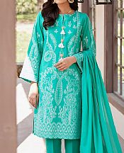 Sea Green Jacquard Suit- Pakistani Chiffon Dress
