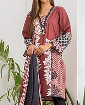 Brick Lawn Suit (2 Pcs)- Pakistani Designer Lawn Dress