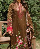 Brown Linen Suit- Pakistani Winter Dress