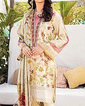 Beige Lawn Suit- Pakistani Lawn Dress