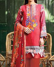 Red Lawn Suit- Pakistani Designer Lawn Dress