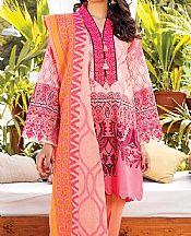 Pink/Rust Lawn Suit- Pakistani Designer Lawn Dress