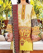 Ivory/Green Lawn Suit- Pakistani Designer Lawn Dress