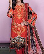Rust Lawn Suit- Pakistani Lawn Dress