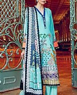 Turquoise Cottel Linen Suit- Pakistani Winter Clothing