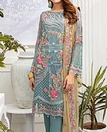 Baby Blue Chiffon Suit- Pakistani Chiffon Dress