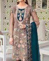 Fallow Brown Chiffon Suit- Pakistani Chiffon Dress
