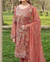 Coral Chiffon Suit- Pakistani Chiffon Dress