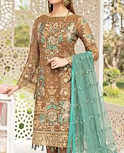 Brown Chiffon Suit- Pakistani Designer Chiffon Suit