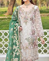 White Organza Suit- Pakistani Chiffon Dress