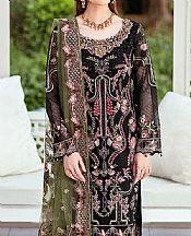 Black Organza Suit- Pakistani Designer Chiffon Suit