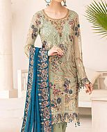 Pistachio Chiffon Suit- Pakistani Chiffon Dress