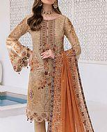 Beige Chiffon Suit- Pakistani Designer Chiffon Suit