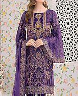 Indigo Chiffon Suit- Pakistani Chiffon Dress