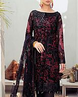 Black/Plum Chiffon Suit- Pakistani Chiffon Dress