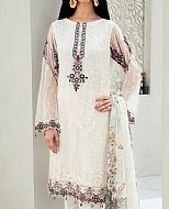 Off-white Chiffon Suit- Pakistani Chiffon Dress
