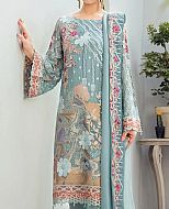 Light Turquoise Chiffon Suit- Pakistani Designer Chiffon Suit