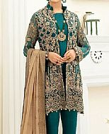 Teal Chiffon Suit- Pakistani Chiffon Dress