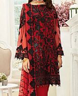 Red/Black Chiffon Suit