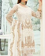 White Chiffon Suit- Pakistani Chiffon Dress