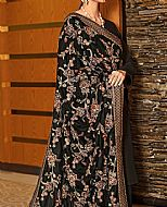 Black Raw Silk Suit- Pakistani Winter Dress