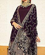 Plum Raw Silk Suit- Pakistani Winter Dress