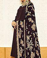 Plum Raw Silk Suit- Pakistani Winter Clothing