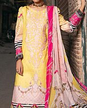 Yellow Lawn Suit- Pakistani Designer Lawn Dress
