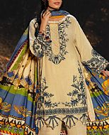 Beige Khaddar Suit- Pakistani Winter Clothing