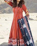 Rust Khaddar Suit- Pakistani Winter Dress