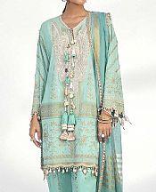 Sky Blue Lawn Suit- Pakistani Designer Lawn Dress