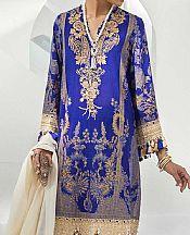 Dark Blue Lawn Suit- Pakistani Designer Lawn Dress