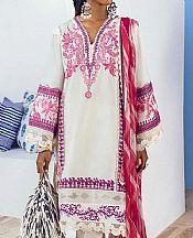 White Lawn Suit- Pakistani Designer Lawn Dress