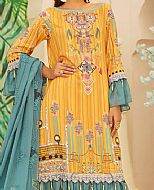 Mustard Linen Suit- Pakistani Winter Dress