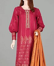 Magenta Jacquard Suit- Pakistani Designer Lawn Dress