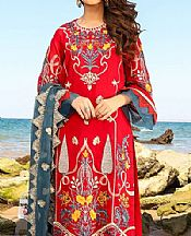Red Swiss Voile Suit