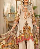 Ivory Slub Lawn Suit- Pakistani Designer Lawn Dress