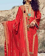 Scarlet Jacquard Suit- Pakistani Winter Dress
