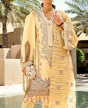 Light Golden Lawn Suit- Pakistani Designer Lawn Dress