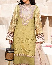 Olive Green Lawn Suit- Pakistani Designer Lawn Dress