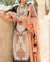 Black/Ivory Lawn Suit- Pakistani Lawn Dress