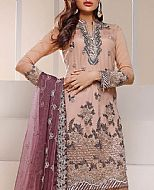 Peach Chiffon Suit- Pakistani Chiffon Dress