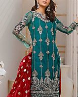 Sea Green Chiffon Suit- Pakistani Chiffon Dress