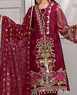 Maroon Jacquard Lawn Suit- Pakistani Designer Lawn Dress