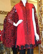 Red Chiffon Suit- Pakistani Chiffon Dress