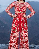 Red Net Suit- Pakistani Chiffon Dress