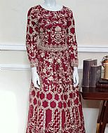 Maroon Net Suit- Pakistani Chiffon Dress