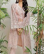 Peach Net Suit- Pakistani Designer Chiffon Suit